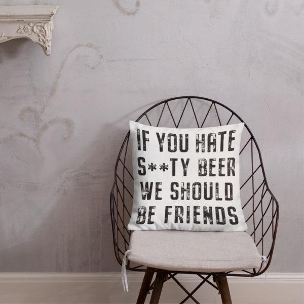 Should Be Friends & Hoppy Place Pillow