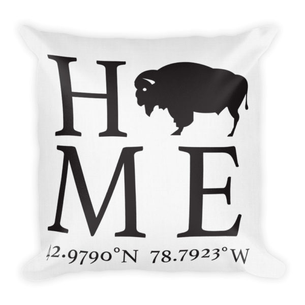 Amherst Latitude and Longitude Home Pillow