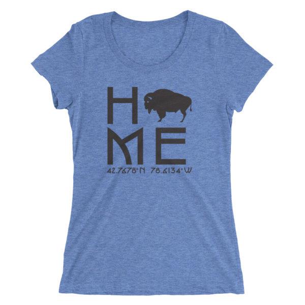East Aurora Latitude and Longitude Home Womens T-Shirt