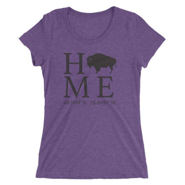 Hamburg Latitude and Longitude Home Ladies' short sleeve t-shirt