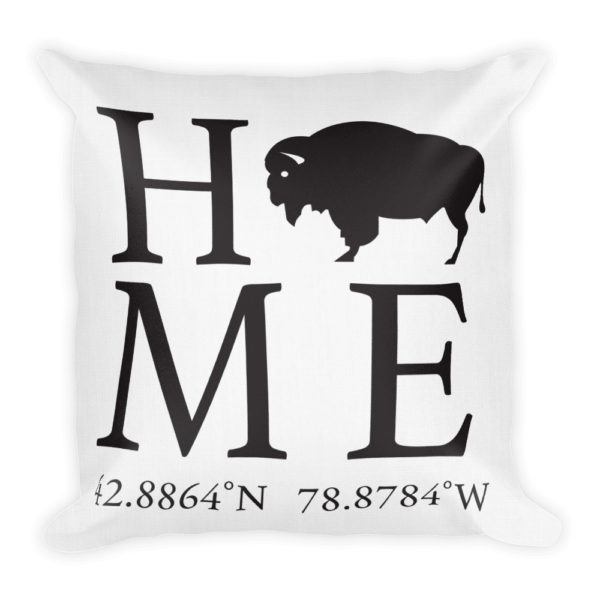 Buffalo Latitude and Longitude Home Pillow