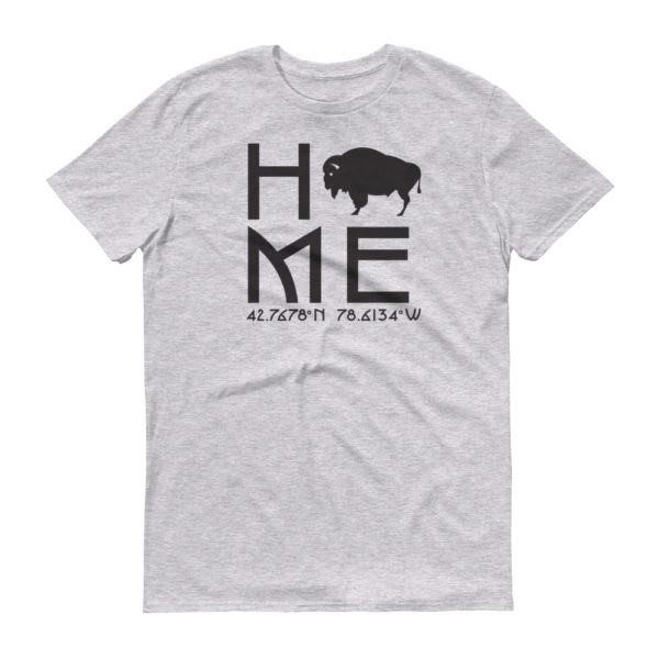 East Aurora Latitude and Longitude Home T-Shirt